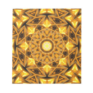 Liquid Gold Mandala Notepad