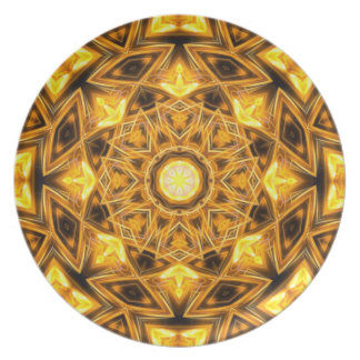 Liquid Gold Mandala Plate