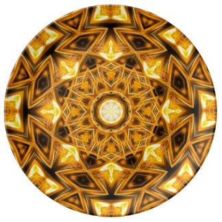 Liquid Gold Mandala Plate