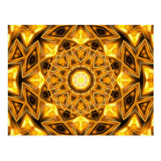 Liquid Gold Mandala Postcard