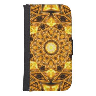 Liquid Gold Mandala Samsung S4 Wallet Case
