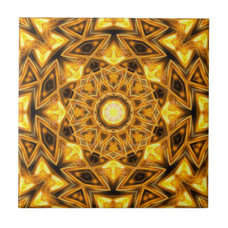 Liquid Gold Mandala Tile