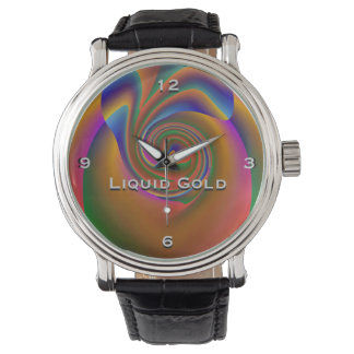 Liquid Gold Monogram Watch