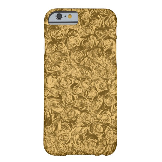 Liquid Gold Roses Barely There iPhone 6 Case