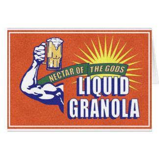 Liquid Granola, Nectar of the Gods Greeting Card