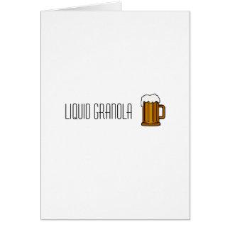 liquid granola note card