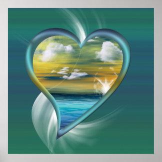 Liquid Heart Poster