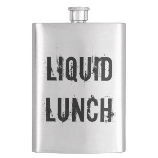 Liquid Lunch Funny Classic Flask