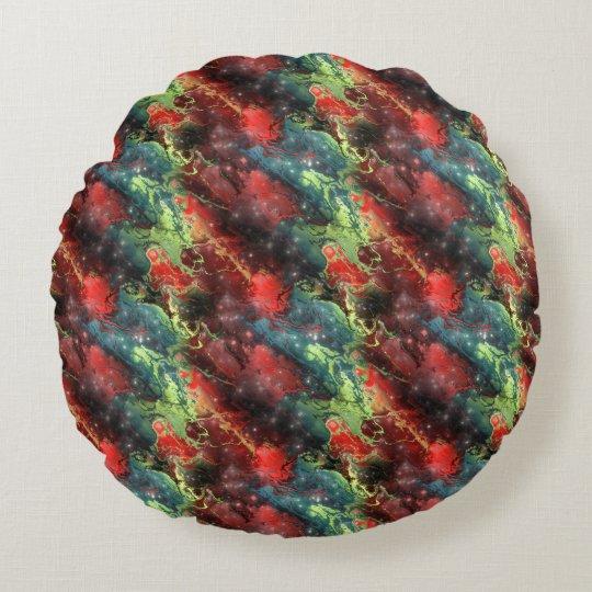 Liquid Metal Round Pillow