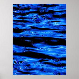 Liquid Neon 1 Poster