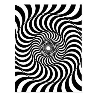 liquid - Op Art Postcard