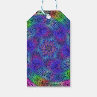 Liquid rainbow gift tags