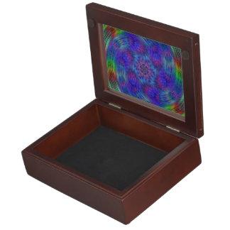 Liquid rainbow keepsake box