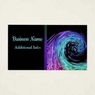 Liquid Rainbow Wave Business Card 3