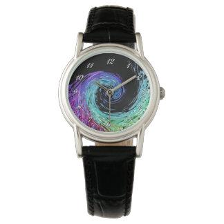 Liquid Rainbow Wave Wrist Watch