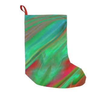 Liquid Silk Colour Flow Small Christmas Stocking