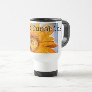 Liquid Sunshine Sunflower Art Travel Coffee Mug