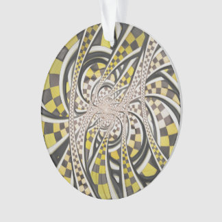 Liquid Taxi Cab, a Yellow Checkered Retro Fractal