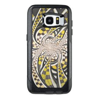 Liquid Taxi Cab, a Yellow Checkered Retro Fractal OtterBox Samsung Galaxy S7 Edge Case