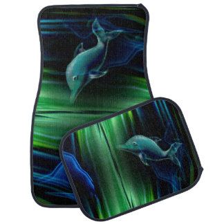 Liquid Vibrations Dolphin Neon Car Mat