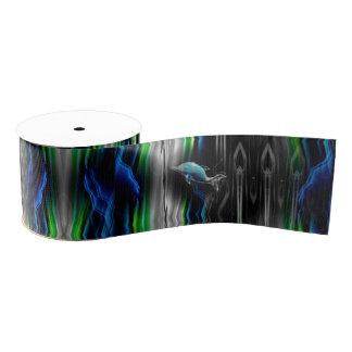 Liquid Vibrations Dolphin Neon Ribbon Grosgrain Ribbon