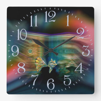 Liquid Vibrations Funky Fish Wall Clock