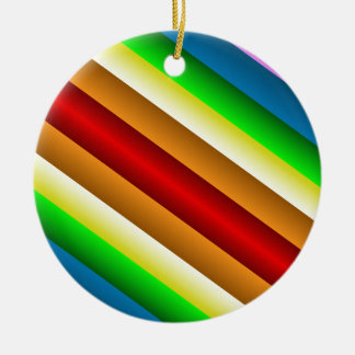Liquidartz Double Edged Rainbow Round Ceramic Ornament
