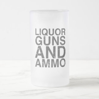 Liquor Guns & Ammo Frosted Glass Frosted Glass Beer Mug
