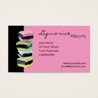 Liquorice Allsorts pink Business Card