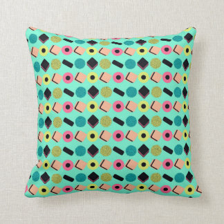 Liquorice Mix Throw Pillow