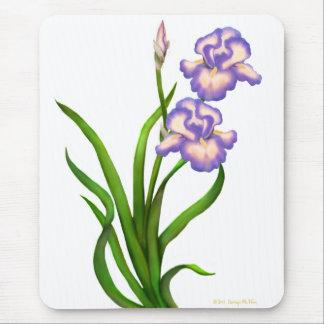 L'iris barbu pourpre fleurit Mousepad Tapis De Souris