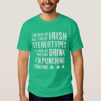 L'Irlandais drôle de NSPF stéréotype le T-shirt