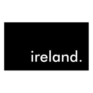 l'Irlande Carte De Visite
