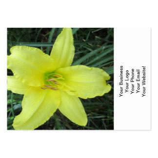 Lis jaune citron carte de visite