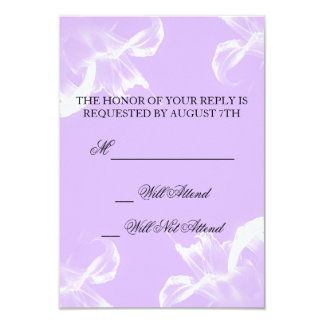 Lis tigré simple R.S.V.P. l'épousant floral Carton D'invitation 8,89 Cm X 12,70 Cm