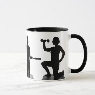 Lisa Carusone Silhouette Exercise Mug