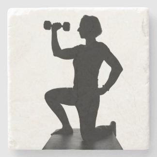 Lisa Carusone Weight Silhouette Stone Coaster