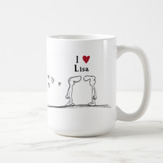 "Lisa ""I love lisa"" ""I heart lisa"" Coffee Mug"