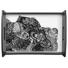 Lisa's Lion black and white tray