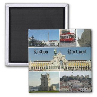 Lisbao, Lisboa,  Portugal Square Magnet