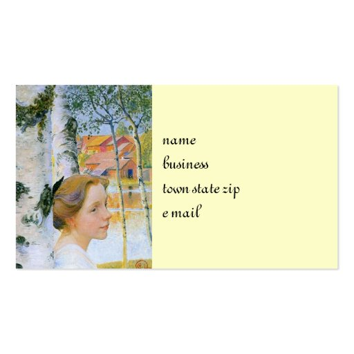 Lisbeth  at the Birch Trees Business Card Template
