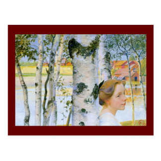 Lisbeth  at the Birch Trees Postcard