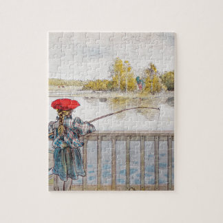 Lisbeth Fishing by Carl Larsson Jigsaw Puzzle