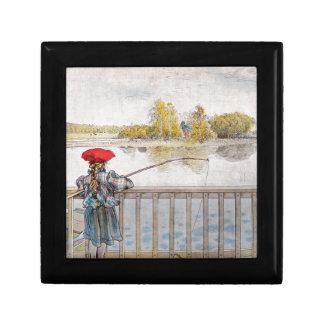 Lisbeth Fishing by Carl Larsson Trinket Box