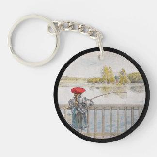 Lisbeth Fishing Double-Sided Round Acrylic Keychain