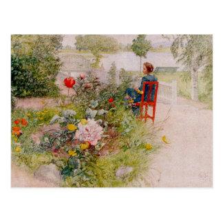 Lisbeth  in the Flower Garden Postcard