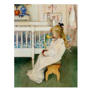 Lisbeth with Yellow Tulip Postcard