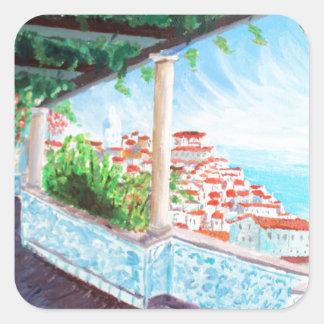 lisboa square sticker