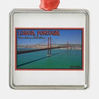 Lisbon - 25th of April Bridge Metal Ornament