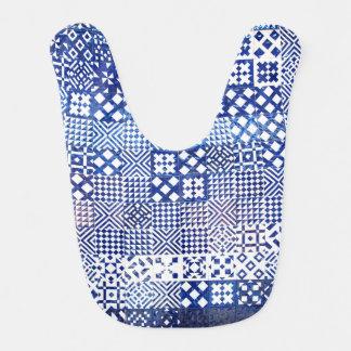 Lisbon Aquarium tiles texture pattern ceramic port Bib